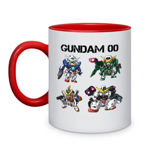 Кружка двухцветная Gundam 00. Group от Всемайки
