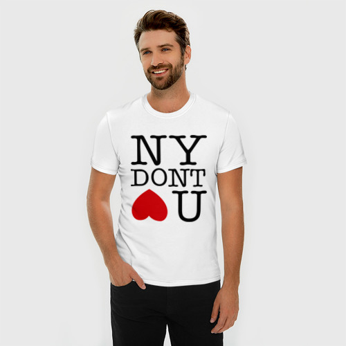 Мужская футболка премиум  Фото 03, NY dont love you