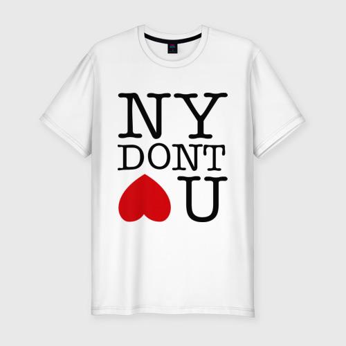 Мужская футболка премиум  Фото 01, NY dont love you
