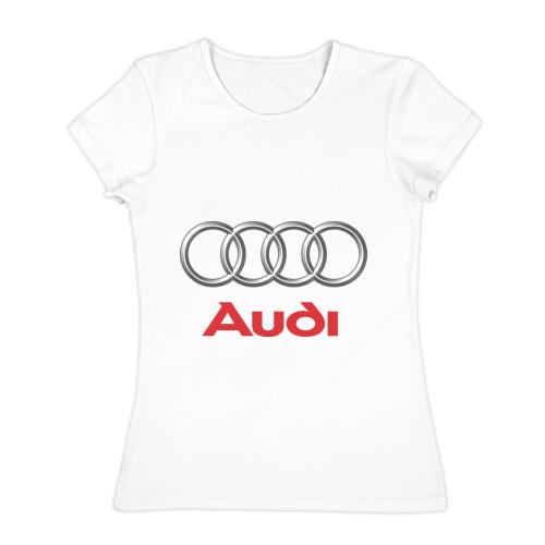 Женская футболка хлопок Audi (2)