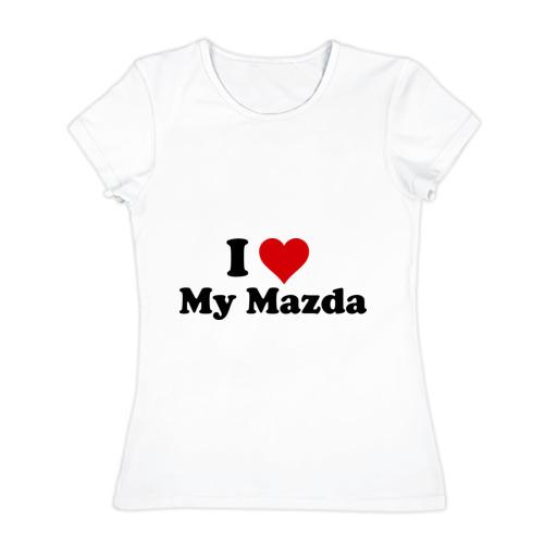Женская футболка хлопок  Фото 01, I love my Mazda (2)
