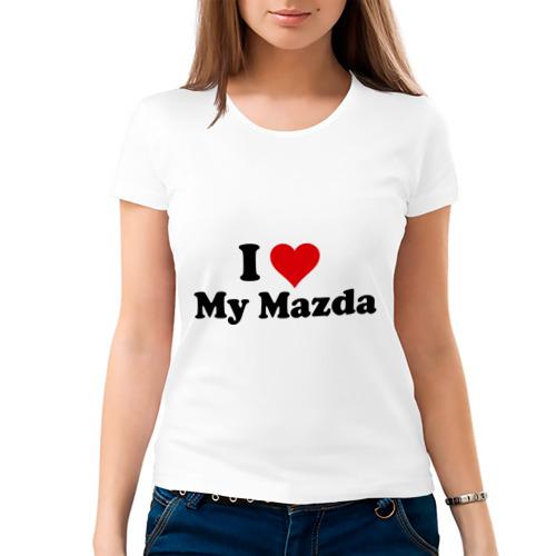 Женская футболка хлопок  Фото 03, I love my Mazda (2)