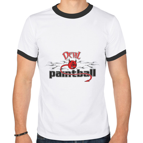 Мужская футболка рингер  Фото 01, Devil Paintball