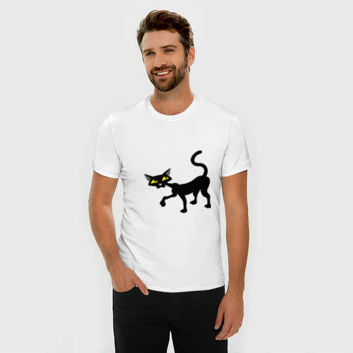 Мужская футболка премиум  Фото 03, Кошка (2)