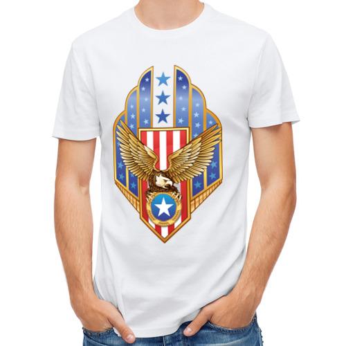 Мужская футболка полусинтетическая  Фото 01, Орел США