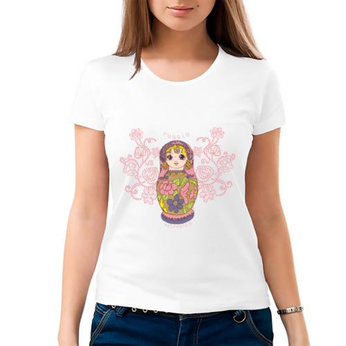 """Женская футболка """"Матрешка"""" - 1"""