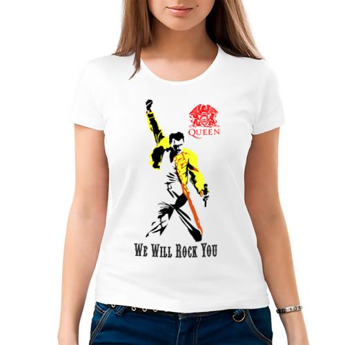 Женская футболка хлопок Queen. We will rock you!