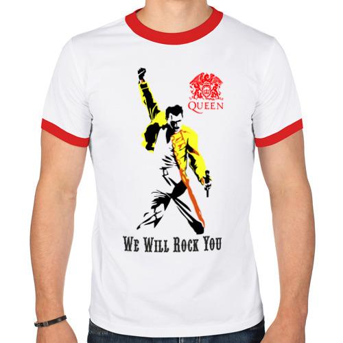 "Мужская футболка-рингер ""Queen. We will rock you!"" - 1"
