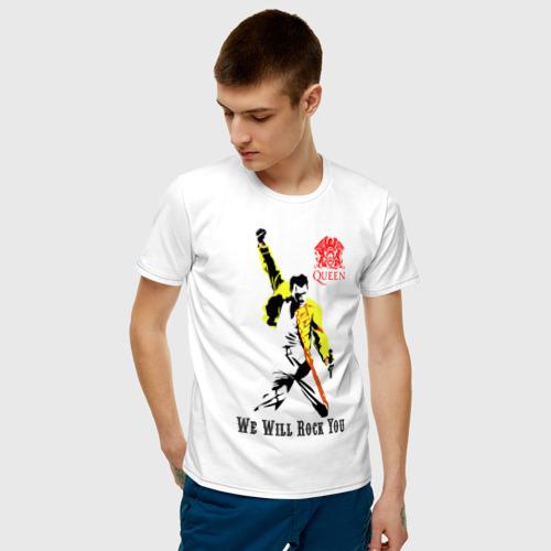 Мужская футболка хлопок Queen. We will rock you! Фото 01