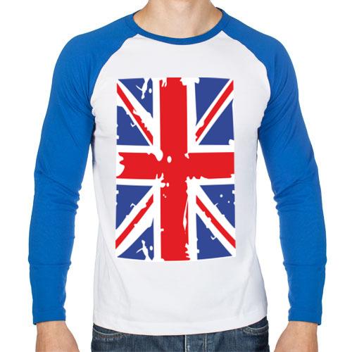 Мужской лонгслив реглан Британский флаг