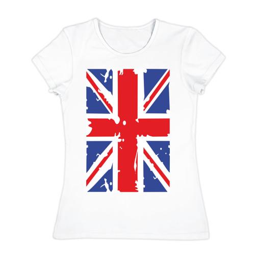 Женская футболка хлопок Британский флаг