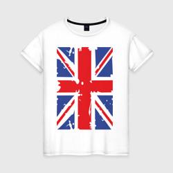 Женская футболка хлопокБританский флаг