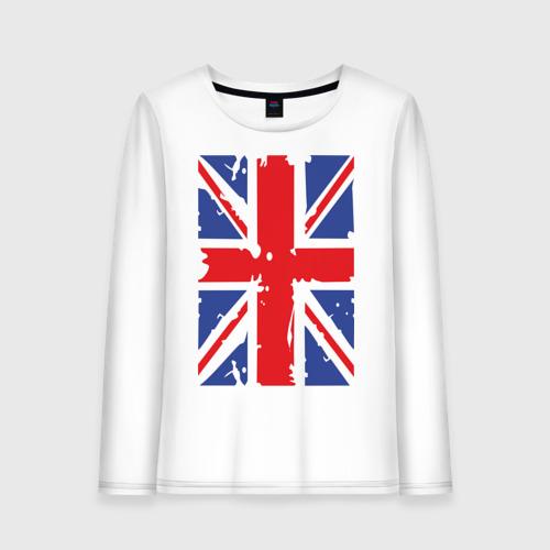 Женский лонгслив хлопок Британский флаг