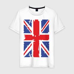 Мужская футболка хлопокБританский флаг