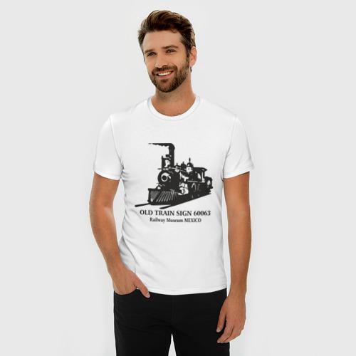 Мужская футболка премиум  Фото 03, Old Train