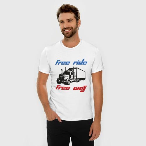 Мужская футболка премиум  Фото 03, Free ride! Free way!