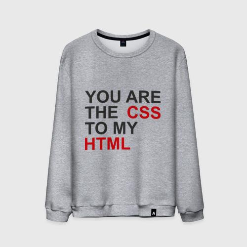 Мужской свитшот хлопок  Фото 01, CSS and HTML