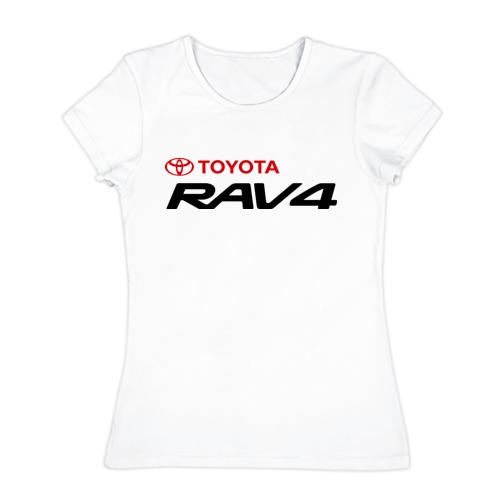 Женская футболка хлопок Toyota Rav4