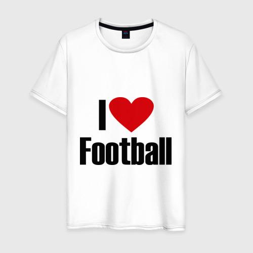 Мужская футболка хлопок Я люблю футбол! (2)