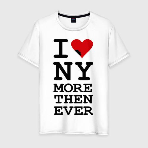 Мужская футболка хлопок  Фото 01, I love NY more that ever
