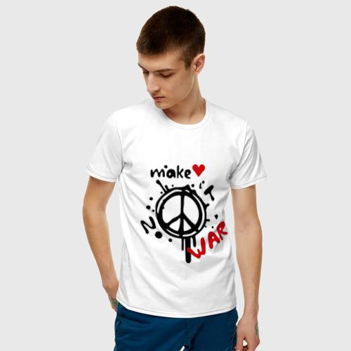 Мужская футболка хлопок Peace. Make love not war Фото 01
