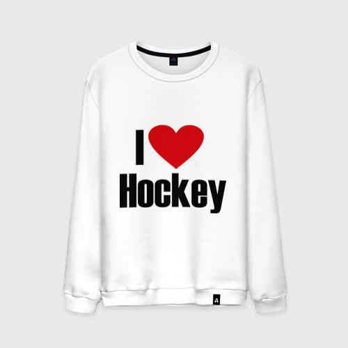 Мужской свитшот хлопок  Фото 01, Я люблю хоккей!
