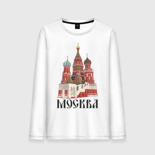 """Мужская футболка с длинным рукавом """"Москва"""" (3) - 1"""