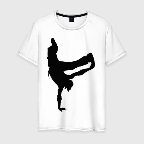 Мужская футболка хлопок Брэйк дансер
