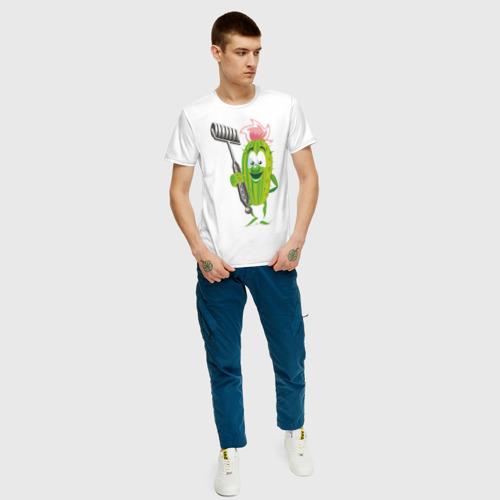 Мужская футболка хлопок Огурец Фото 01