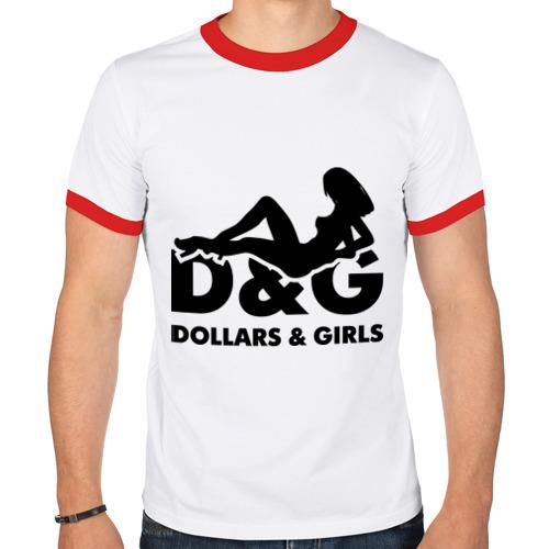 Мужская футболка рингер  Фото 01, Доллары и девушки