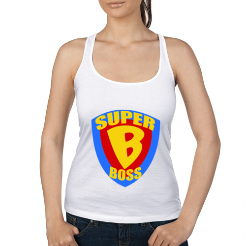 Женская майка борцовка  Фото 01, Super boss