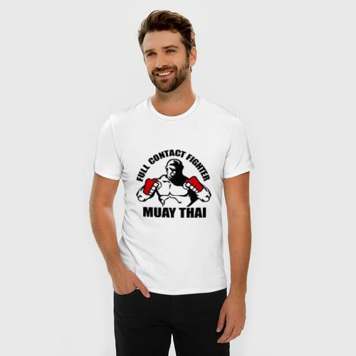 Мужская футболка премиум  Фото 03, Муай тай (2)