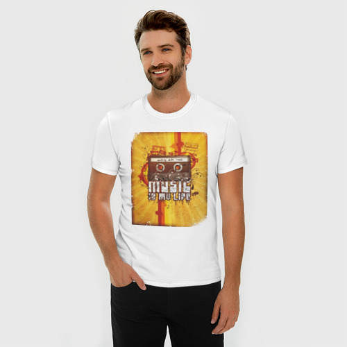 Мужская футболка премиум  Фото 03, Music is my life