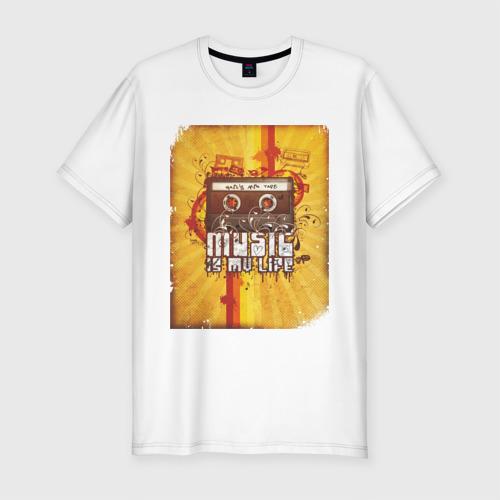 Мужская футболка премиум  Фото 01, Music is my life