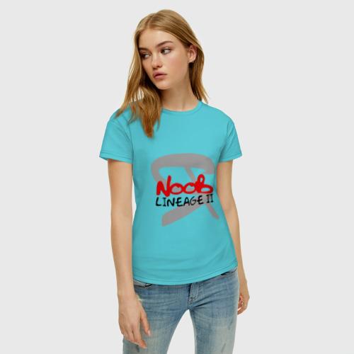 Женская футболка хлопок Я Noob Фото 01