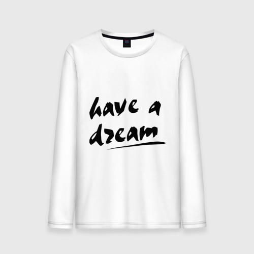 Мужской лонгслив хлопок  Фото 01, Have a dream