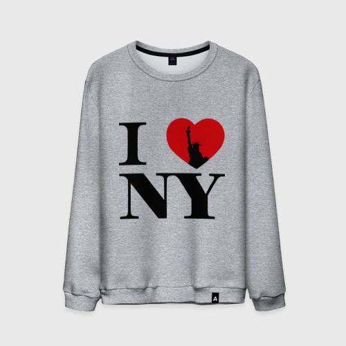 Мужской свитшот хлопок  Фото 01, I Love NY (2)
