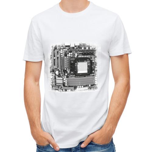 """Мужская футболка синтетическая """"Материнская плата"""" - 1"""