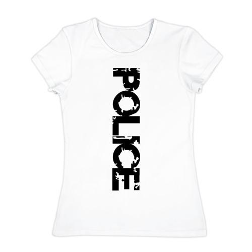 Женская футболка хлопок Police (2)