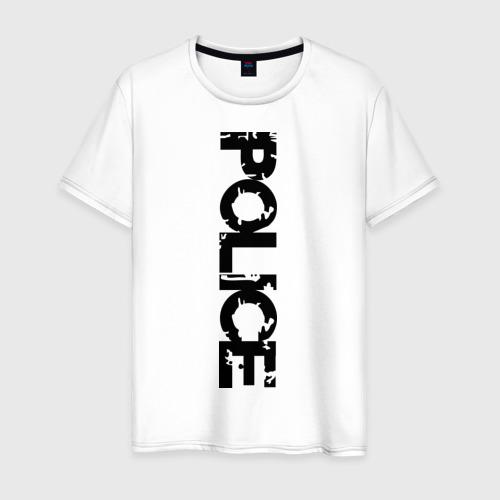 Мужская футболка хлопок Police (2)