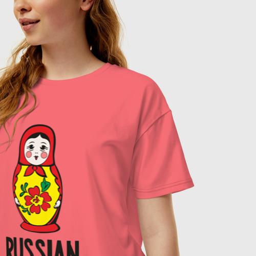 Женская футболка хлопок Oversize Russian Barbie Фото 01