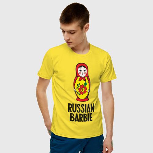 Мужская футболка хлопок Russian Barbie Фото 01