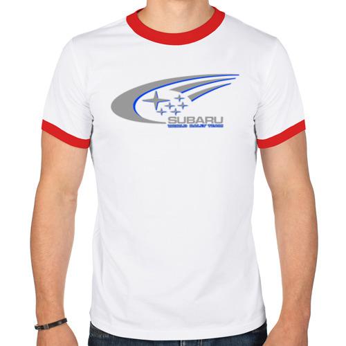Мужская футболка рингер  Фото 01, Subaru world rally team (3)