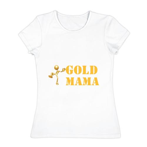 Женская футболка хлопок Gold мама