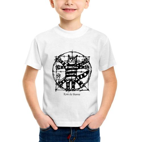 Детская футболка синтетическая Кот Да Винчи