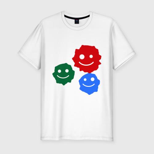 Мужская футболка премиум  Фото 01, Кляксы