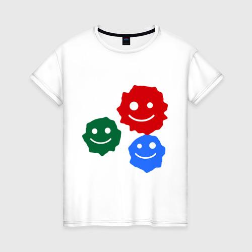 Женская футболка хлопок Кляксы