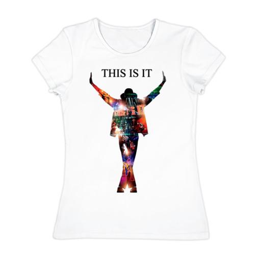 Женская футболка хлопок Майкл Джексон - Вот и все
