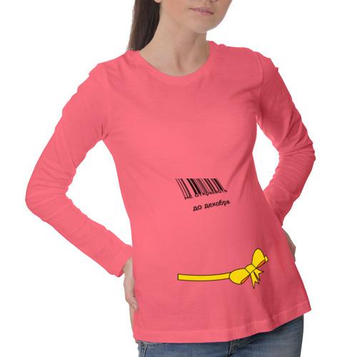 Лонгслив для беременных хлопок Не открывать до декабря