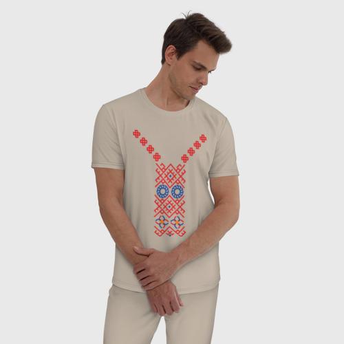 Мужская пижама хлопок Узор славянского сарафана Фото 01